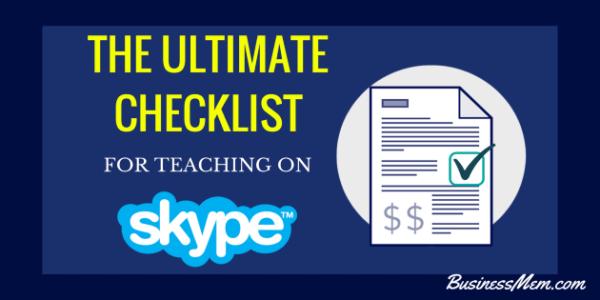 How to start online tutoring using Skype